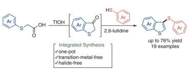 Integrated Synthesis of Thienyl Thioethers and Thieno[3,2-<i>b</i>]thiophenes via Benzothiophen-3(2<i>H</i>)-ones