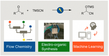 Application of an Electrochemical Microflow Reactor for Cyanosilylation: Machine Learning-Assisted Exploration of Suitable Reaction Conditions for Semi-Large Scale Synthesis